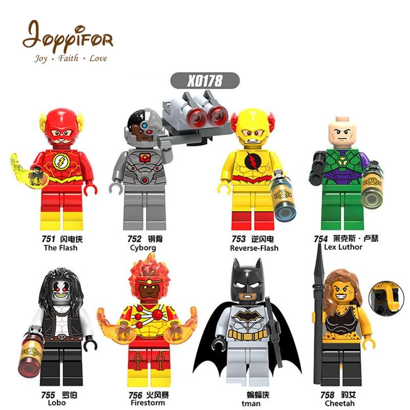 Joyyifor Lot Compatible Best Gift To Childrenthe Super Batman Cheetah Firestorm Lolo Lexluthor TOYS