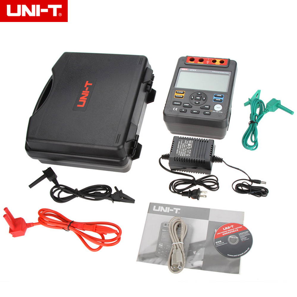 UNI-T UT513 Digital Insulation Resistance Tester Meter Megger 1M-1000G Ohm 5000V mastech ms5215 high voltage digital insulation resistance tester megometro megger 5000v 3ma temp 10 70c