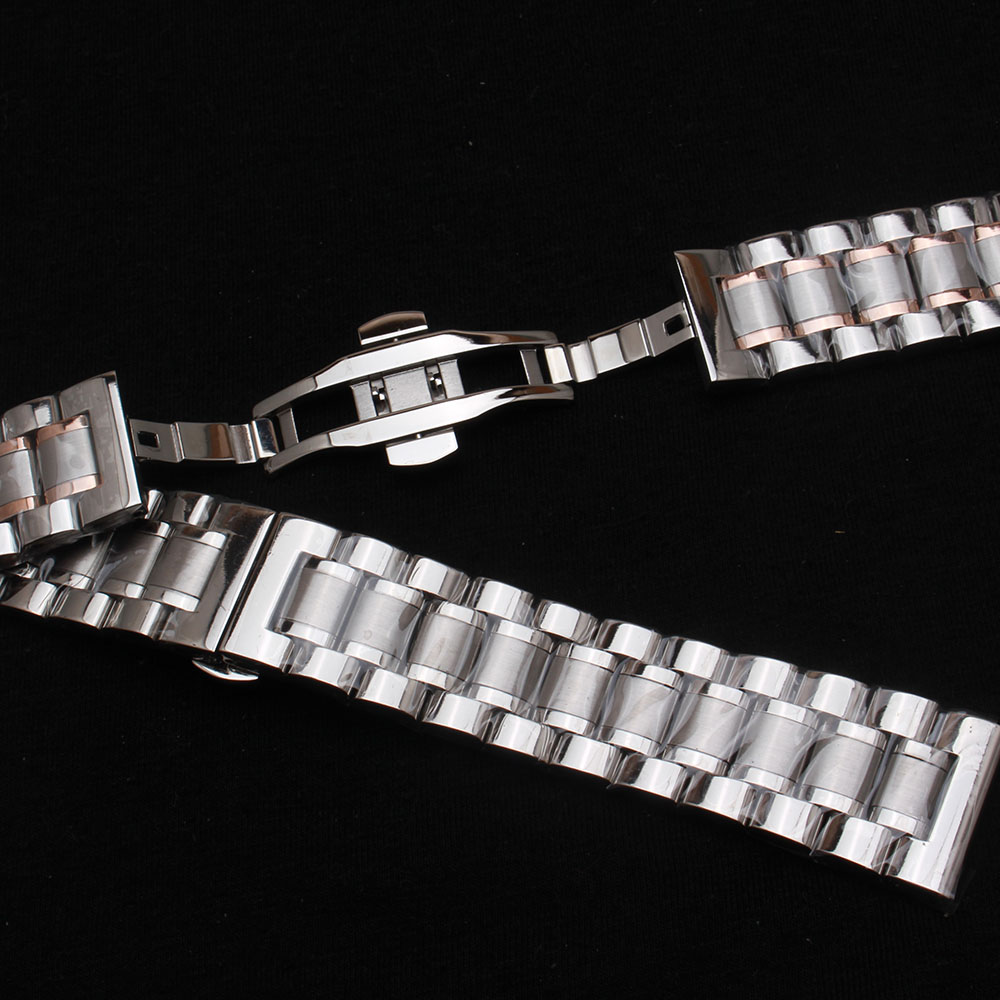 High quality Flat end|curved end stainless steel watchband bracelet men 14mm 15mm 16mm 17mm 18mm 19mm 20mm 21mm 22mm 23mm 24mm new high quality straps for nato 18mm 19mm 20mm 21mm 22mm 23mm 24mm 26mm black green sports leisure woven nylon watch straps