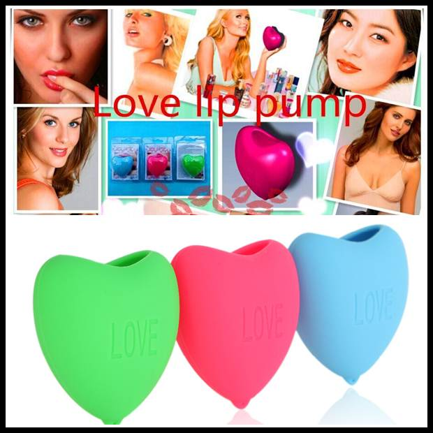 Hearthy Natural Fuller Lips Plumper Enhancer Solf Silicon Love Hear Style Lip Pump Plumps Beauty tool For Making Lip Fuller