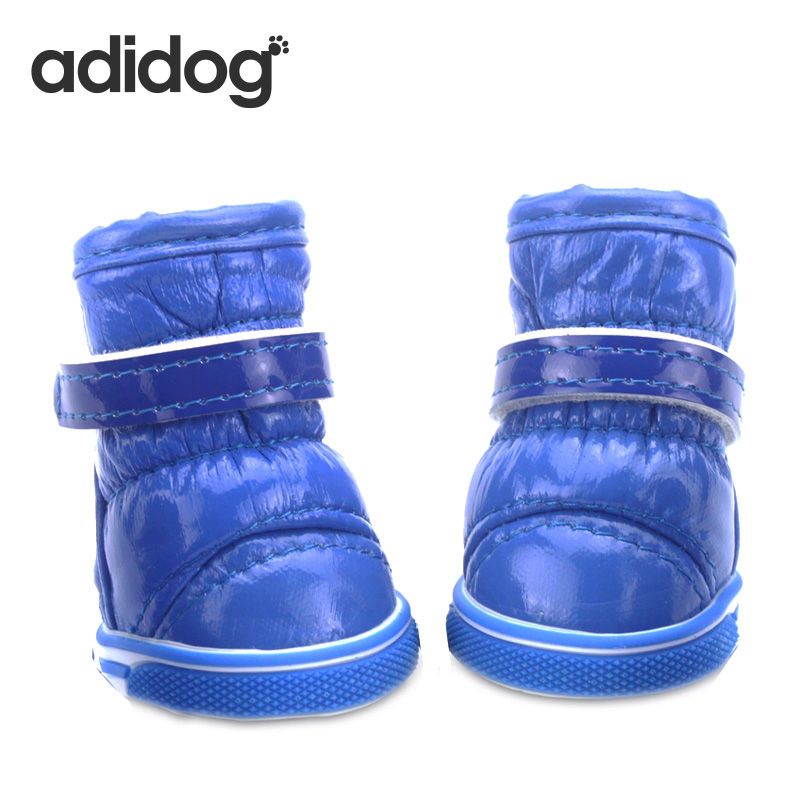 2018 New Dog Shoes 4pcs  lot Blue Puppy Pet Dog Vinter Sko Sport Casual Anti-Slip Støvler Tykkere Cotton Sko Til Chihuahua XXL
