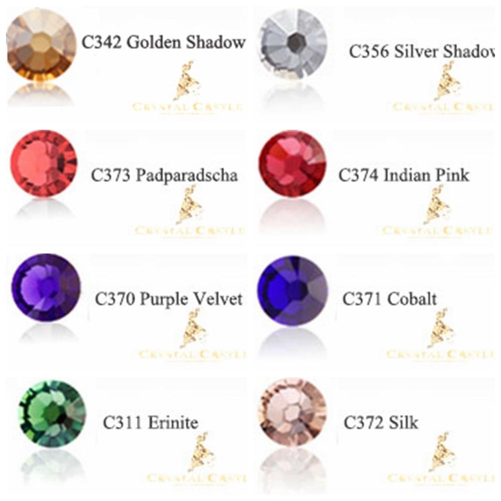 Crystal Castle Grade 5A Silk Hot Fix Strass Erinite Iron On Stone Transparent Turquoise Cobalt Diy Glass Hotfix Rhinestones