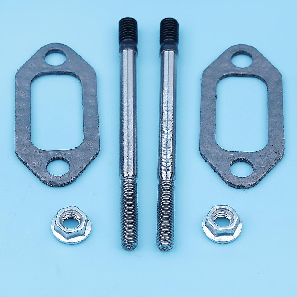 Muffler Exhaust Stud Nut Bolt Gasket Kit For Husqvarna 61 266 66 162 Chainsaw M5 X M6 Replace 501686501 503222302