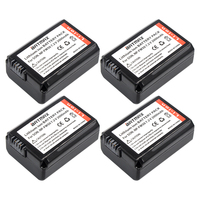 4Pcs NP FW50 FW50 NPFW50 Rechargeable Battery For Sony Alpha 7 7R II 7S A7S A7R