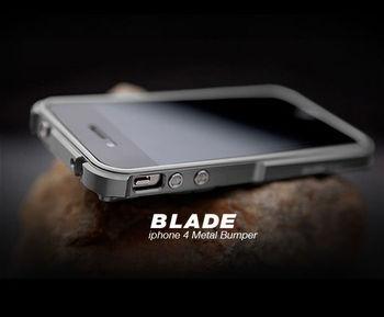 TX лезвие i4 Капа fundas Алюминий рамка Бампер для iPhone4 iPhone 4S металлический бампер + отвертка + 2 пленка + 1 коробка >> Phone Surrounding Store