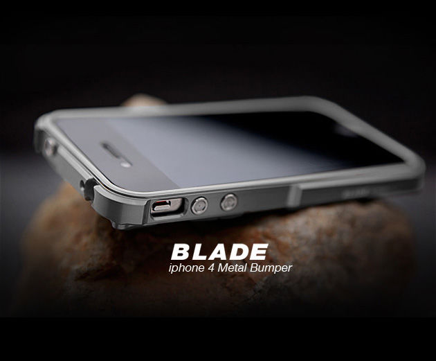 Kornizë TX Blade i4 capa fundas alumini Bumper frame for iPhone4 iPhone 4S Bumper metal + iPhone kaçavidë + 2 Film +1 Box