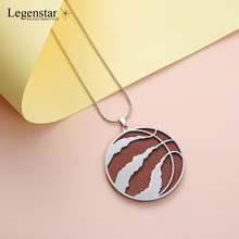 Legenstar New Creative basketball Necklaces For Women And Men Stainless Steel Sports Mens Choker Jewelry Fashion Necklace 2019