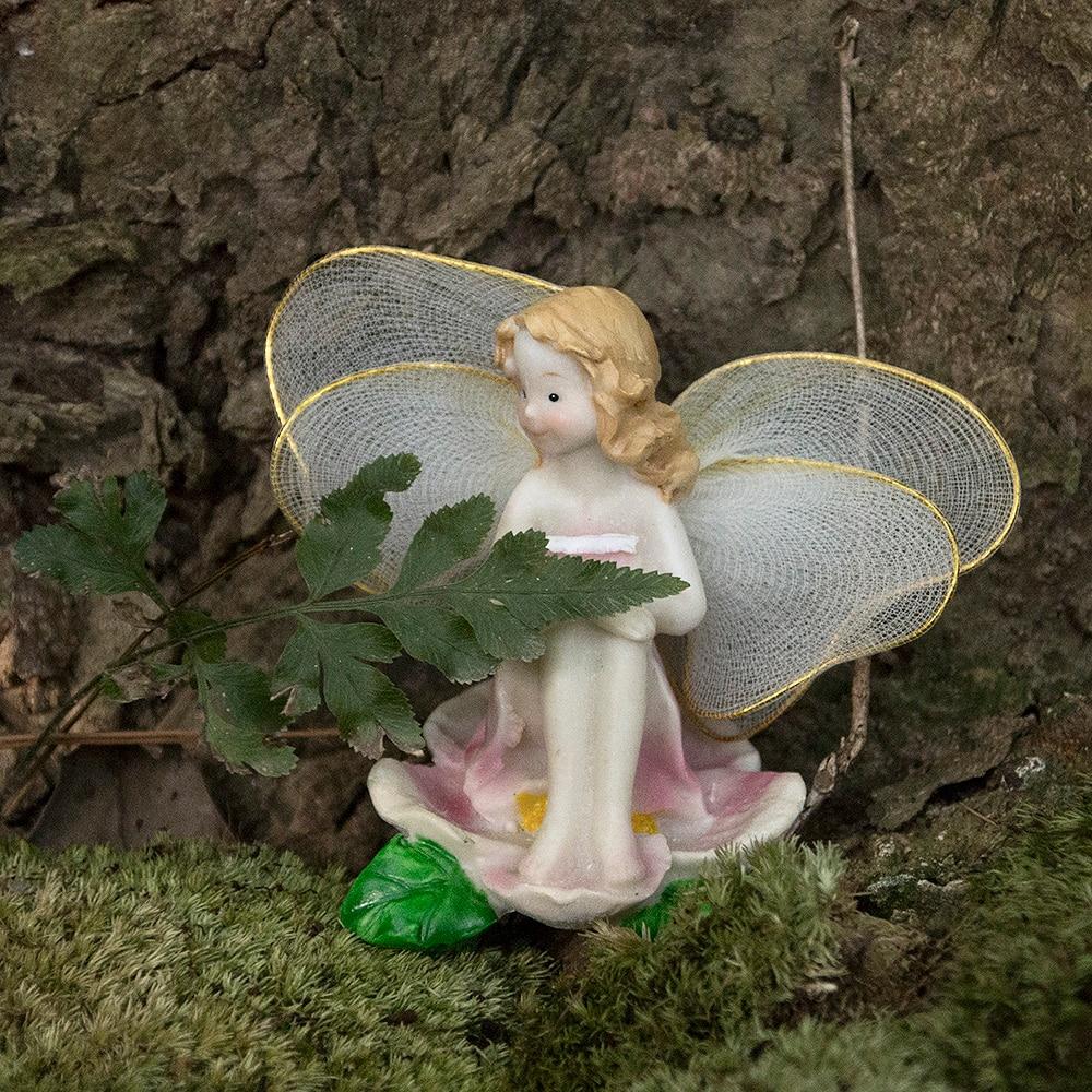 1gab cute miniatūras pasaku dārza rotājumi ziedu eņģeļi sveķi - Mājas dekors