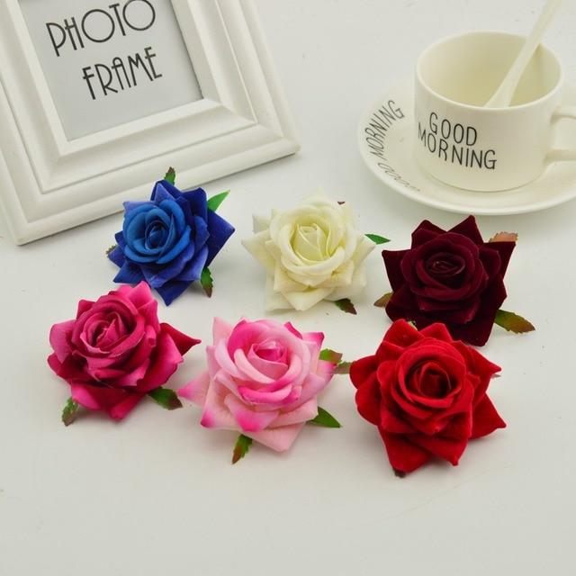 100 stücke seide rosen kopf DIY hand kränze hut blume rot rosa weiß blau künstliche blume billig für home hochzeit dekoration