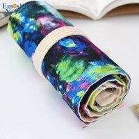 Пенал для карандашей  школьный холст  рулон  сумка для эскиза  цветной пенал  тени для кистей  ручка для хранения  пенал  коробка для школьник...