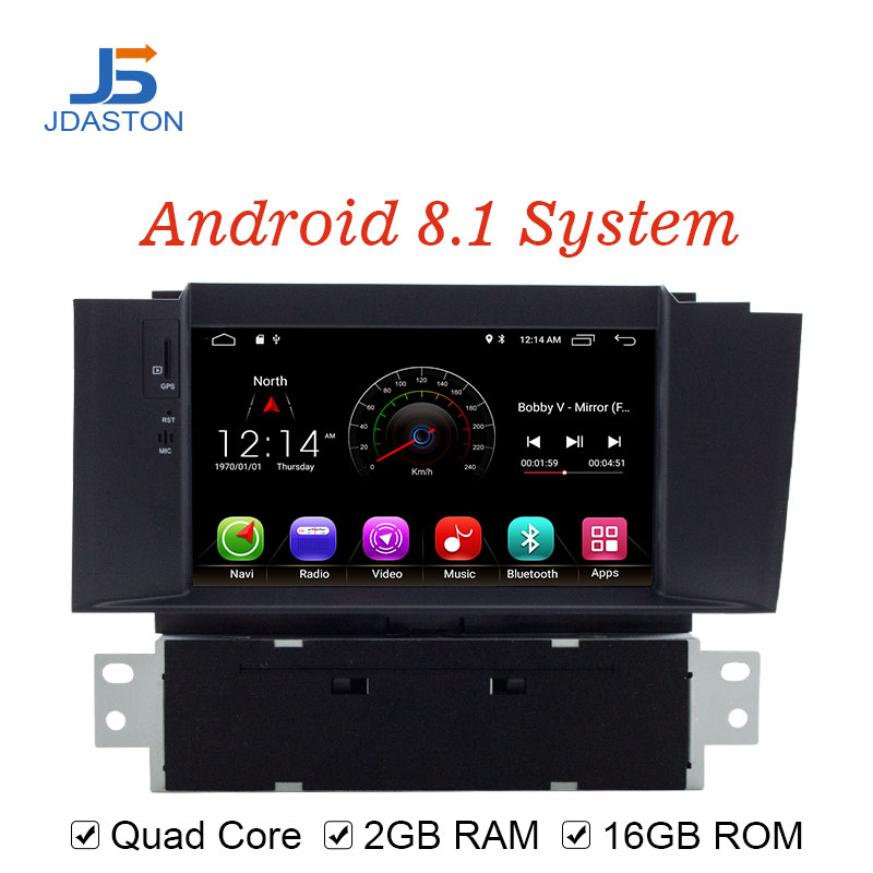 JDASTON Android 8.1 Lecteur DVD de Voiture Pour Citroen C4 C4L DS4 Multimédia Vidéo Lecteur WIFI GPS Navigation 1 Din Voiture radio Stéréo RDS