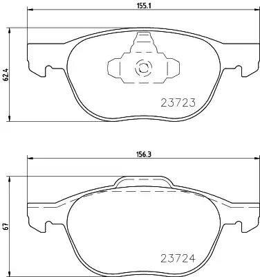 1 paire/kit plaquettes de frein avant/arrière ensemble auto voiture PAD KIT frein à disque pour MAZDA 3 FAW Pentium Automobile moteur partie C2Y3-33-23ZA - 6