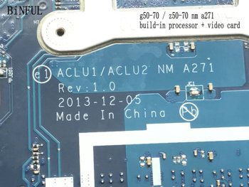 BiNFUL 100% NEW  STOCK  ACLU1 / ACLU2 NM-A271 FOR LENOVO G50-70 LAPTOP MOTHERBOARD BUILD-IN I3 PROCESSOR +VIDEO CARD