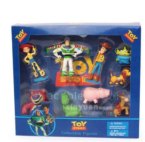 9 unids set Sherif Woody de Toy Story Buzz Lightyear de dibujos animados  lindo muñecas de colección figuras juguetes para niños juguetes regalos de  ... 6097b9df199