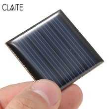 CLAITE Hot 2V 0 14W 70mA Polycrystalline Silicon Solar Panels Cells Battery Batteries Epoxy Plate DIY