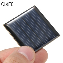 CLAITE Hot 2V 0.14W 70mA Polycrystalline Silicon Solar Panels Cells Battery Batteries Epoxy Plate DIY Powered Model 40x40x3mm