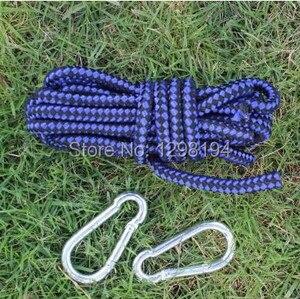 Image 4 - Double hamac Parachute en Nylon, facile à transporter, meuble dextérieur, 2 places, lit balançoire de couchage, survie Camping jardin voyage