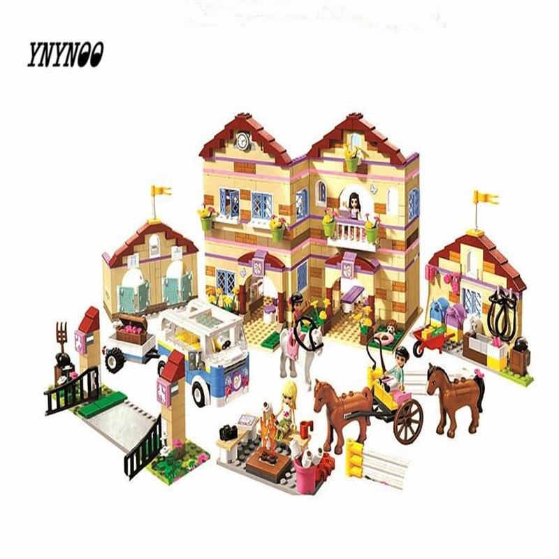 YNYNOO New Bela serie 10170 amigos ninas tareas domesticas tiempo Panorama bloques de construccion juguetes compatibles con