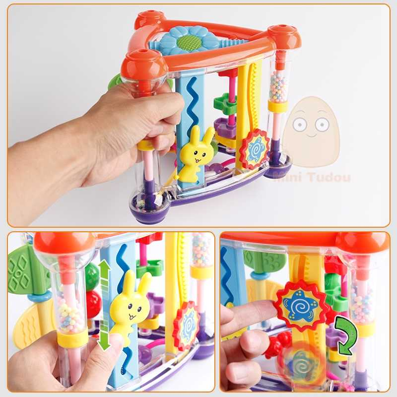 ของเล่นสำหรับทารก 0-12 เดือนเล่น Cube ทารก Development การศึกษาของเล่นแขวนแรกเกิด Rattle ของเล่น New Born เด็กผู้หญิง