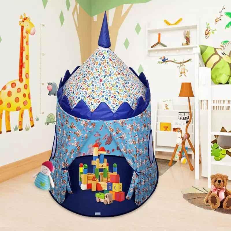 Akitoo pano das Crianças Príncipe castelo Da Princesa jogo tenda casa jogo tenda Ao Ar Livre indoor rastejando brinquedo dobrável