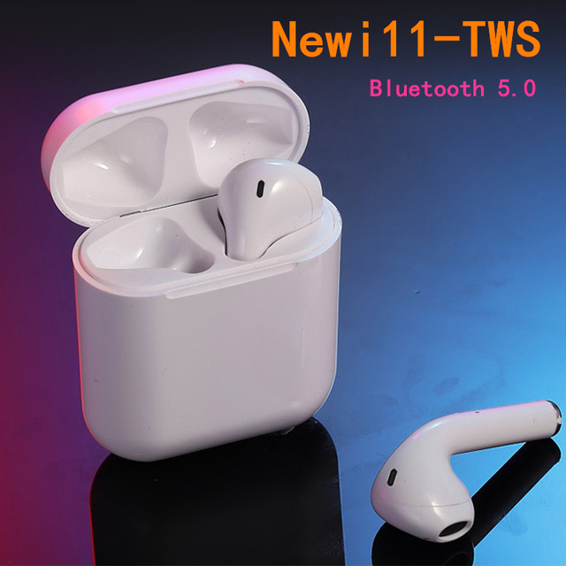 New i11 tws pk i100 tws Bluetooth Headset Wireless Headset Bluetooth 5.0 Earbud Touch Headphones for all mobile phones pk i20