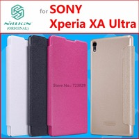 Leather Case For Sony Xperia XA Ultra Original NILLKIN Sparkle Series Fashion Flip Cover For Sony