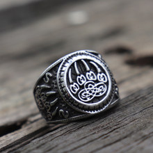 Bagues en acier inoxydable symbole Viking, anneau avec patte d'ours, slave, garde Talisman Veles, amulette, bijoux pour hommes