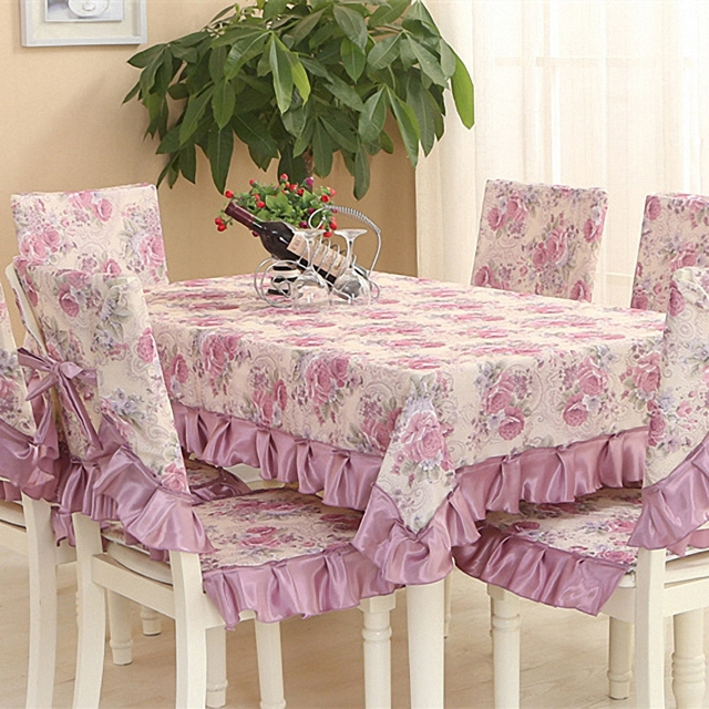 Elegant European Style Pastoral Retro Table Cloth 2 Styles Floral Lace  Cotton Dinning Wedding Banquet