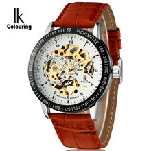 Ik for double faced cutout fully-automatic mechanical watch revealed at men's watch male watch strap