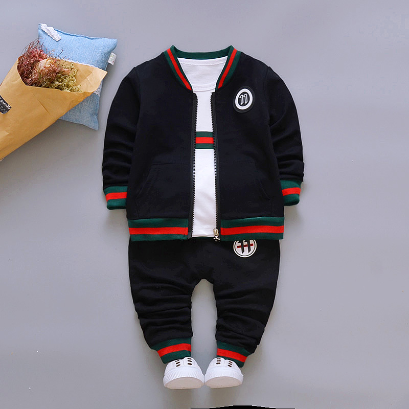 2018 Children's clothing suit  Cotton products for Boys and girls  Three-piece set Spring and autumn Kids sets baby clothes lvanita spring autumn 5size girls boys clothing set floral kids suit set casual two piece sport suit for boys tracksuit children