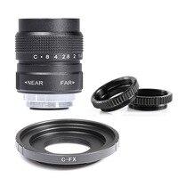 Fujian 25mm F1.4 CCTV camera lens + C FX Mount Ring for Fuji Fujifilm X A2 X A1 X T1 X T2 X T10 X E1 X E2 X 1M X Pro1 X Pro2 X