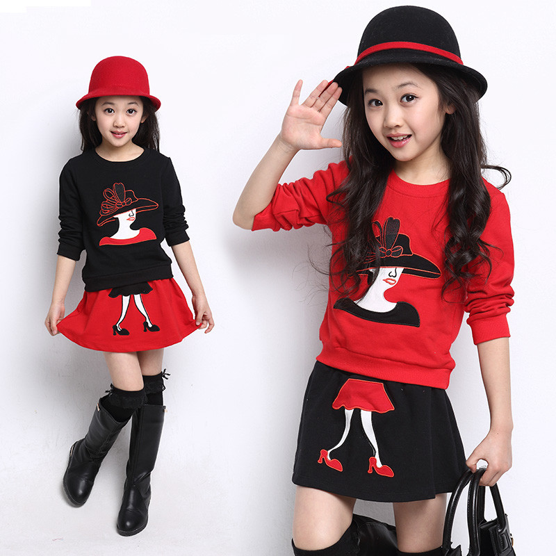 Aliexpress.com : Buy NEW Fashion Girls Clothing Set Embroidered ...