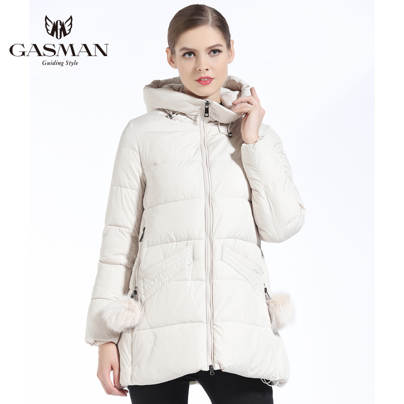 GASMAN 2019 Women Winter Coat Hooded Thickening Fashion Down Jacket Brand Female Windproof Overcoat Hooded Bio