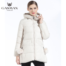GASMAN 2018 Women Winter Coat Hooded Thickening Fashion Down Jacket Brand Female Windproof Overcoat Hooded Bio Down Parka Girl's