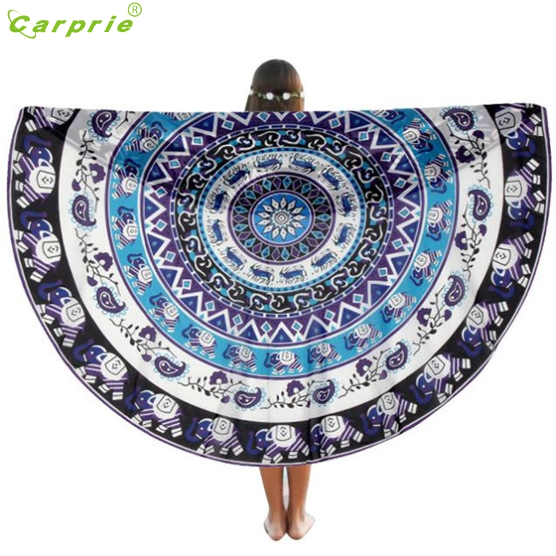 Hot! 2017 Fashion Round Beach Pool Home Shower Towel Blanket Table Cloth Yoga Mat High Quality drop shipping JA03b