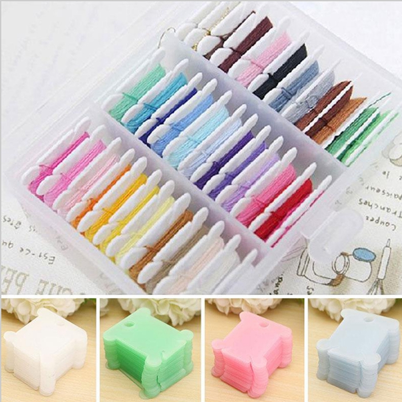 100Pcs Embroidery Floss Craft Diy Thread Bobbin Cross Stitch Storage Holder G4
