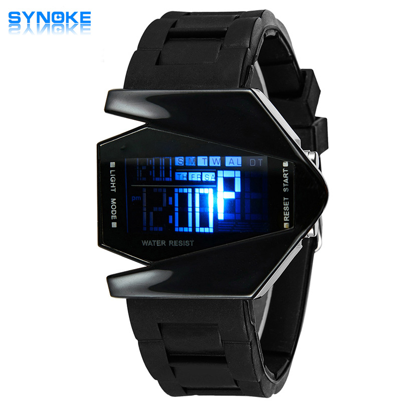 2017 Hot Sale Synoke Brand Aircraft Shape Children LED Digital Watches 5ATM Waterproof Colorful Jelly LCD Movement Kids Watch игольница hemline медвежонок тедди с ножницами