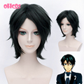 OHCOS Anime The Prince of Tennis Ryoma Echizen 12inches Black Short Synthetic Hair Cosplay Wig+ Free Hairnet
