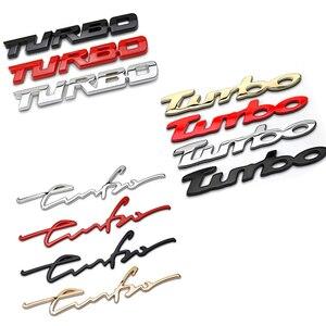 Turbo coche logotipo cuerpo etiqueta engomada para Subaru STI Peugeot 308 BMW Mini Cooper Mercedes Skoda Vauxhall Camry tapa del maletero cromada emblema