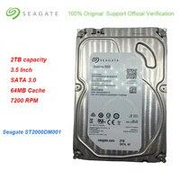 Новый Seagate ST2000DM001 2 ТБ Ёмкость 3,5 Жесткий диск SATA 3,0 Внутренний жесткий диск 64 Мб Кэш 7200 об/мин, внутренний жесткий диск для настольных ПК