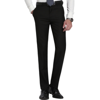 Мужские облегающие брюки на плоской подошве, прямые мужские брюки, светло-серые тонкие офисные брюки