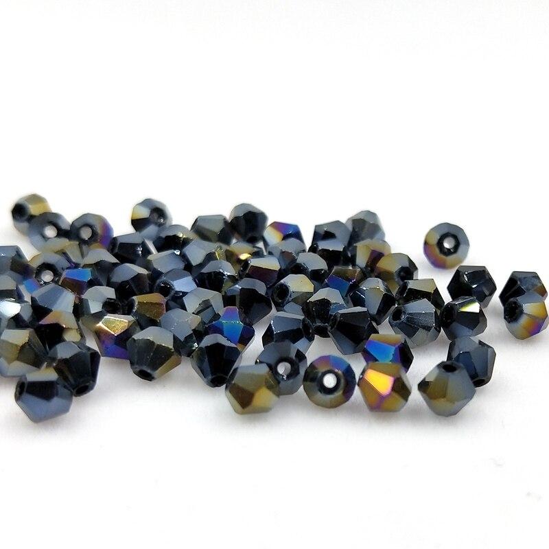 Новинка 5301 4 мм 1000 шт стеклянные кристаллы бусины биконус граненый свободный разделитель бисер бусины Fantas AB DIY Изготовление ювелирных изделий U выбор цвета