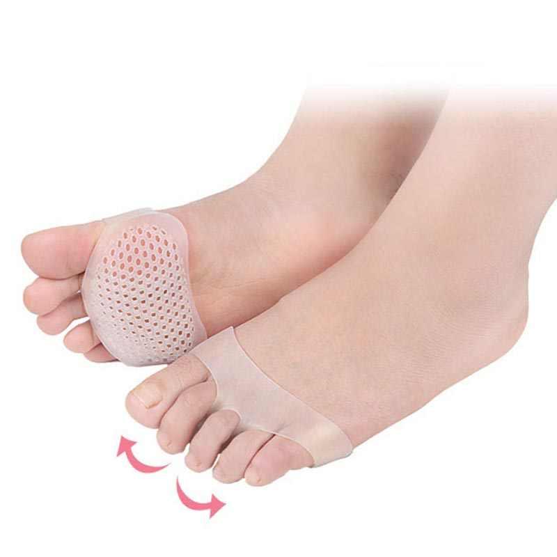 1 par de plantillas ortopédicas transpirables celulares herramientas para el cuidado de los pies plantillas de Gel de Sholl para zapatos Corrector de Bunion separador de dedos de Valgus