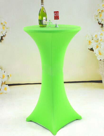 Free Shipping 10pcs Le Green Elastic Highboy Bar Table Cloths Lycra Spandex Tail Covers