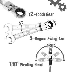 Image 4 - Prostormer 14 шт. набор ключей универсальный ключ гаечные ключи с задерживающими храповиками набор ручной инструмент гаечный ключ Набор универсальный гаечный ключ инструмент инструменты для ремонта автомобиля