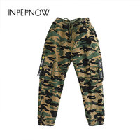 INPEPNOW Camouflage Pants For Kids Boys Cotton Causal Straight Children Camo Long Pants Kids Trousers for Boy Clothes CK CZX22