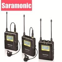 Saramonic UWMIC9 UHF Phát Sóng Video Phỏng Vấn Lavalier Hệ Thống Micro Không Dây cho Canon Nikon DSLR Camera Sony Máy Quay Phim