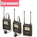 Saramonic UwMic9 Вещания УВЧ Камеры Петличный Беспроводной Микрофон Системы 2 Передатчики и 1 Приемник для Canon DSLR & Видеокамеры