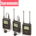 Saramonic UwMic9 Broadcast UHF Camera Lavalier Wireless Microphone System 2 Transmitters & 1 Receiver for Canon DSLR & Camcorder