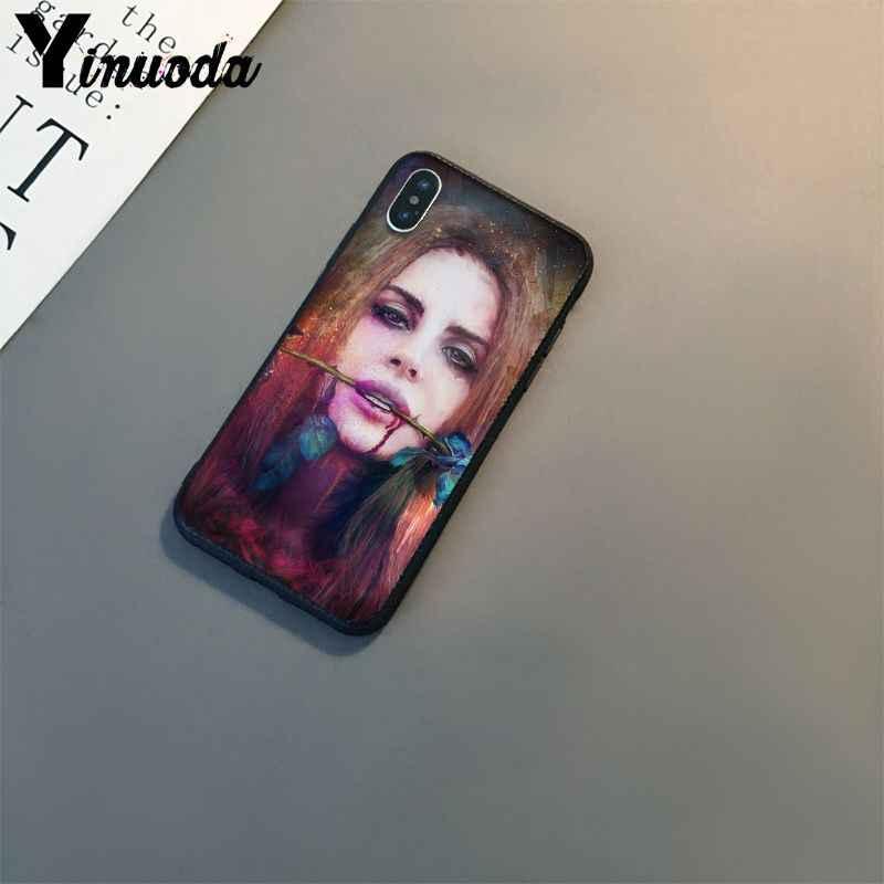 Ynuoda Sexy ca sĩ mô hình Lana Del Rey Mona Lisa Patter Điện Thoại Mô Hình Trường Hợp đối với Apple iPhone 8 7 6 6 S Cộng Với XS X MAX 5 5 S SE XR